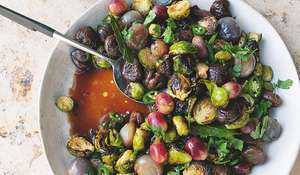 Ottolenghi Sour Sprouts with Chestnut & Grape | Vegetarian Christmas Recipe