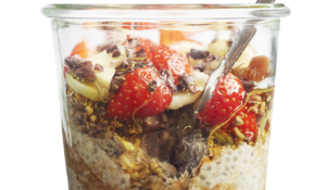 Peanut Butter, Maple Syrup & Banana Overnight Oats from Superfood Breakfasts