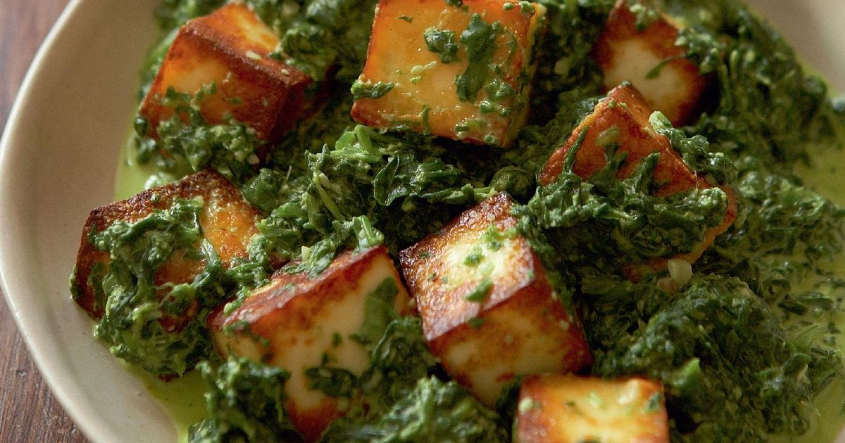 Spinach With Paneer Saag Paneer The Happy Foodie