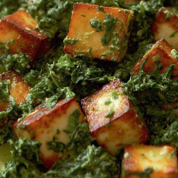 Spinach With Paneer Saag Paneer The Happy Foodie