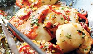 Spicy Scallops with Sun-dried Tomatoes