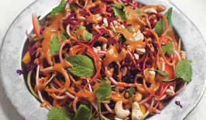 Vegetarian Raw Rainbow Pad Thai