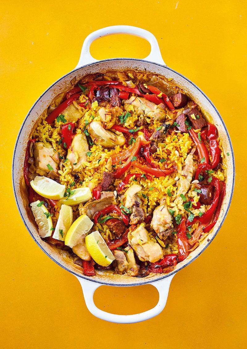 best recipes of 2020 All in One chicken Paella fromThe Roasting Tin Around The World by Rukmini Iyer