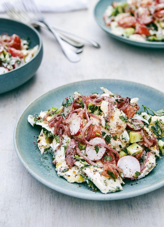 Recipes from Palestine | Buttermilk Fattoush Salad