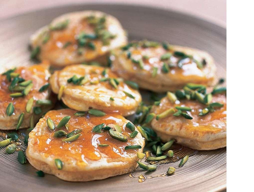 Arabian Pancakes with Orange-Flower Syrup