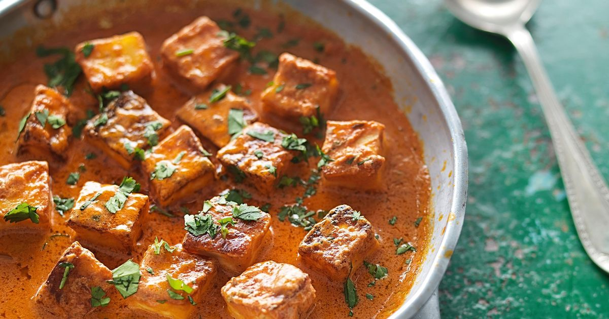 Fresh Indian Cheese In A Butter Tomato Sauce Paneer