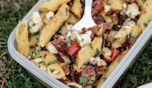Feta and Pepper Pasta Salad