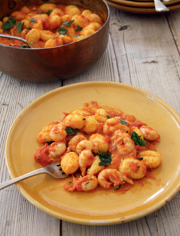 Gnocchi with Langoustines, Tomato and Cream