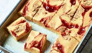 Nadiya Hussain's Peanut Butter and Jelly Traybake | BBC Time to Eat