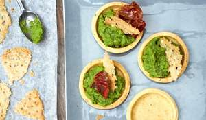Kimberley's Pea Purée and Ham Tartlets