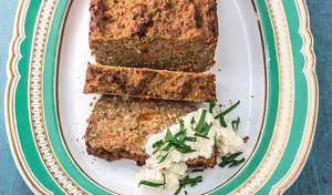 Aubergine and Tomato Nut Roast Recipe | Vegetarian Christmas