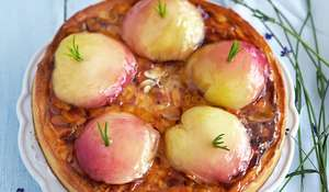 Peach & Rosemary Almond Tarts