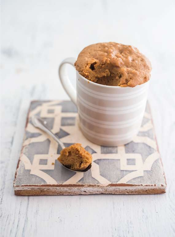Three-ingredient Peanut Butter Mug Cake