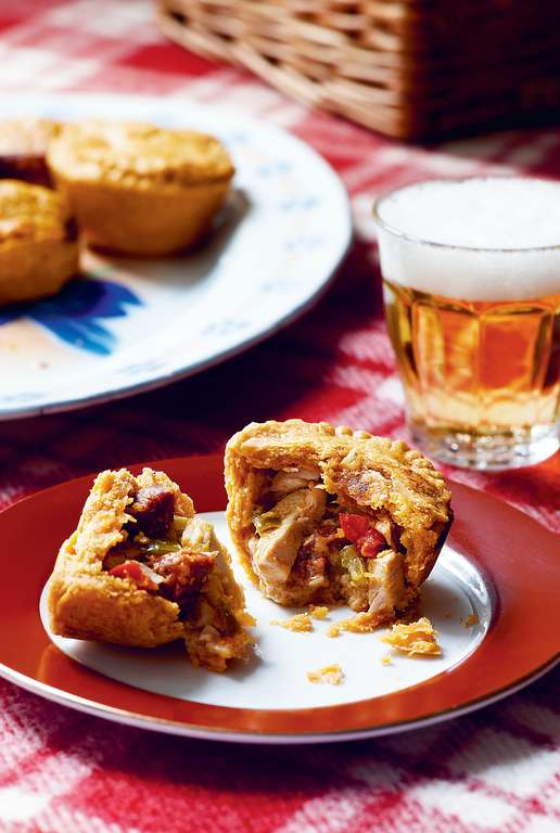 Chicken, Chorizo and Pepper Pies
