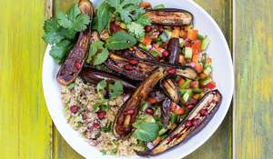 Spicy Aubergine Salad Recipe | Buddha Bowls