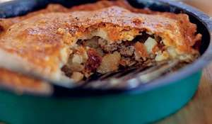 Sausage, Cider & Potato Pie
