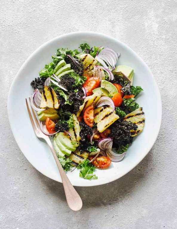 Kale and Griddled Pineapple Salad