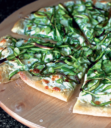 Shaved Asparagus Pizza from The Smitten Kitchen Cookbook