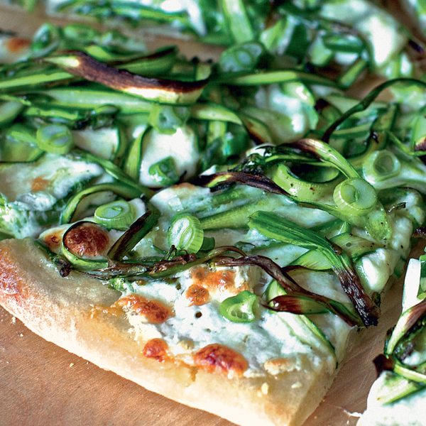 Smitten Kitchen Cauliflower: Shaved Asparagus Pizza