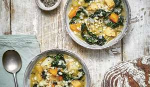 Vegan Winter Vegetable and Barley Soup | Veganuary 2021