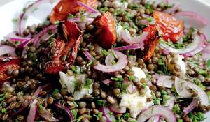 Castelluccio Lentils with Tomatoes and Gorgonzola