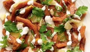 Roasted Butternut Squash with Sweet Spices, Lime and Green Chilli