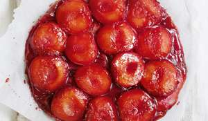 Plum and Marzipan Tarte Tatin