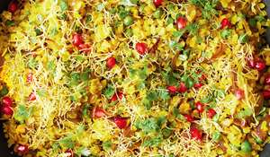 Pomegranate and Fennel Seed Poha