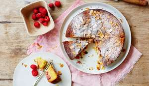 Almond and Raspberry Polenta Cake Recipe