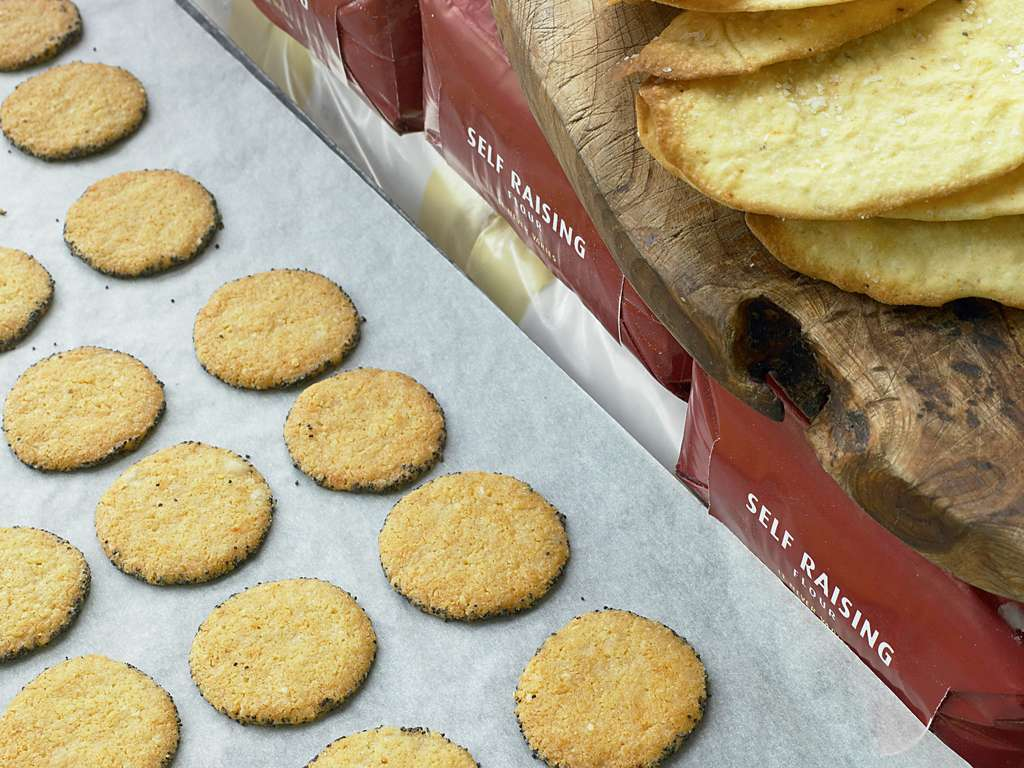Parmesan and Poppy Biscuits