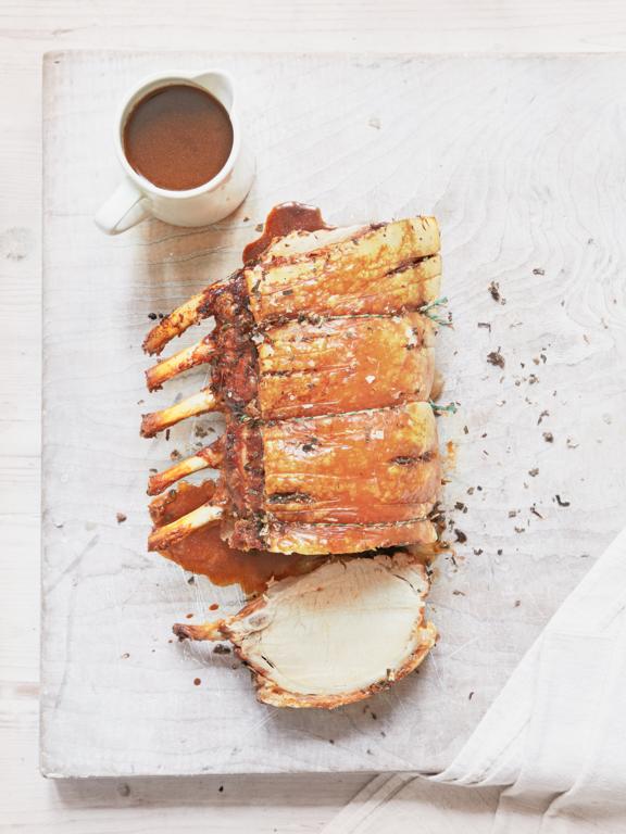 Roast Rack of Pork with Sage and Lemon Rub