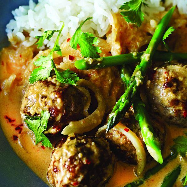 Pork Meatball Thai Curry
