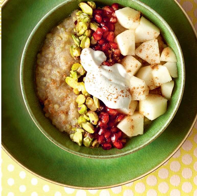 Ancient Grains Porridge with Pear