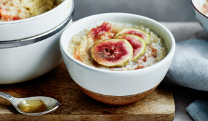 Fig and Cinnamon Quinoa Porridge from The Little Green Spoon