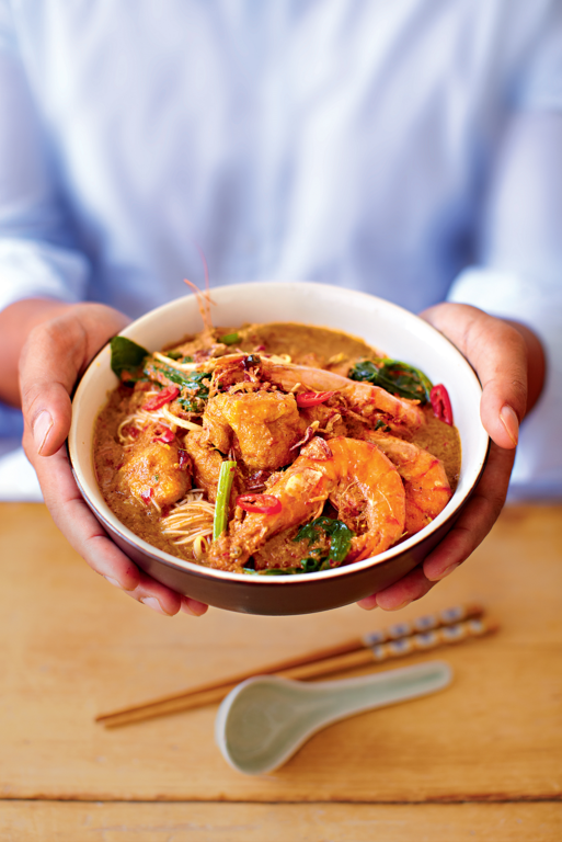 Prawn Curry Laksa (Kari Laksa Udang)