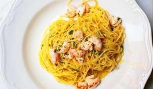 Rachel Roddy Prawn & Lemon Capelli d'Angelo  | Easy Italian Pasta