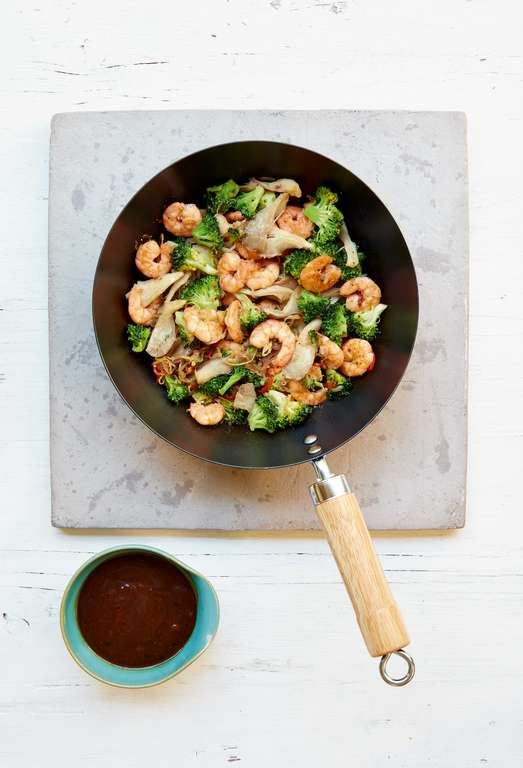Mary Berry's King Prawn and Broccoli Stir-Fry with Black Bean Sauce