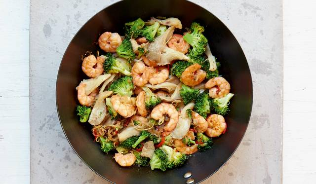 Mary Berrys King Prawn And Broccoli Stir Fry With Black Bean Sauce