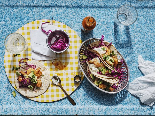 our favourite fakeaways chris bavin prawn tacos