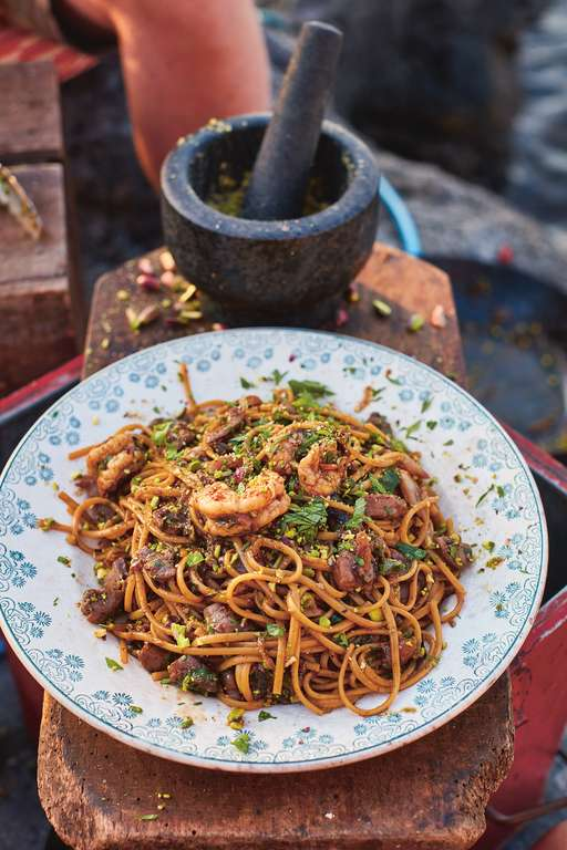 Prawn and Tuna Linguine