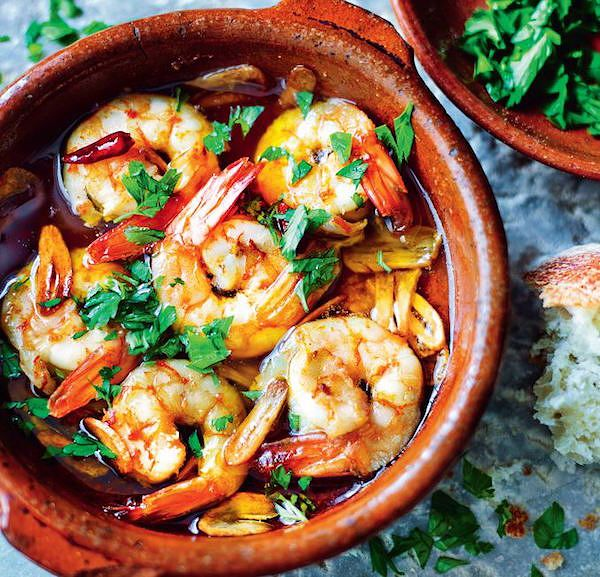spanish tapas recipes prawns with garlic tapas revolution cookbook