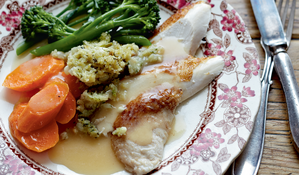 Pot-roasted Chicken with Stuffing