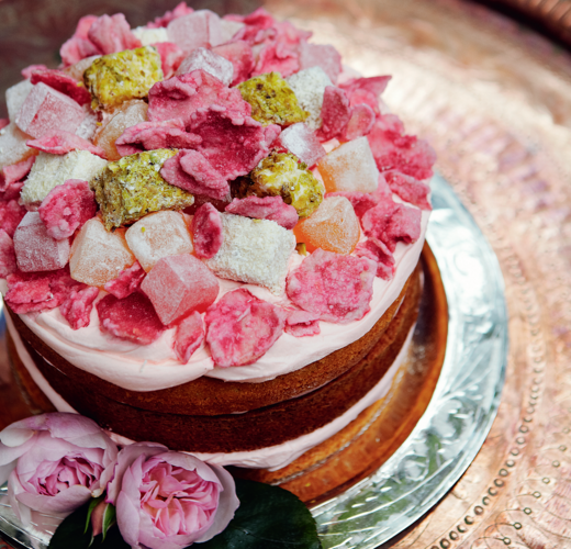 Lemon and Rose Layer Cake