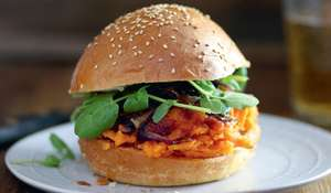 Vegetarian Pulled Pumpkin Burger Recipe for Autumn & Winter | Abel & Cole