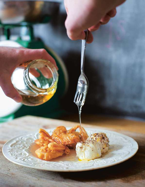 Deep-Fried Pumpkin with Honey and Labneh