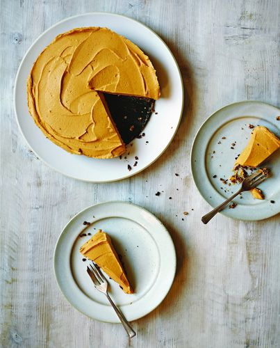 Pumpkin in a Cheesecake from Rachel de Thample's cookbook FIVE