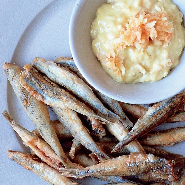 Crispy Coated Whitebait With Quince Aioli The Happy Foodie