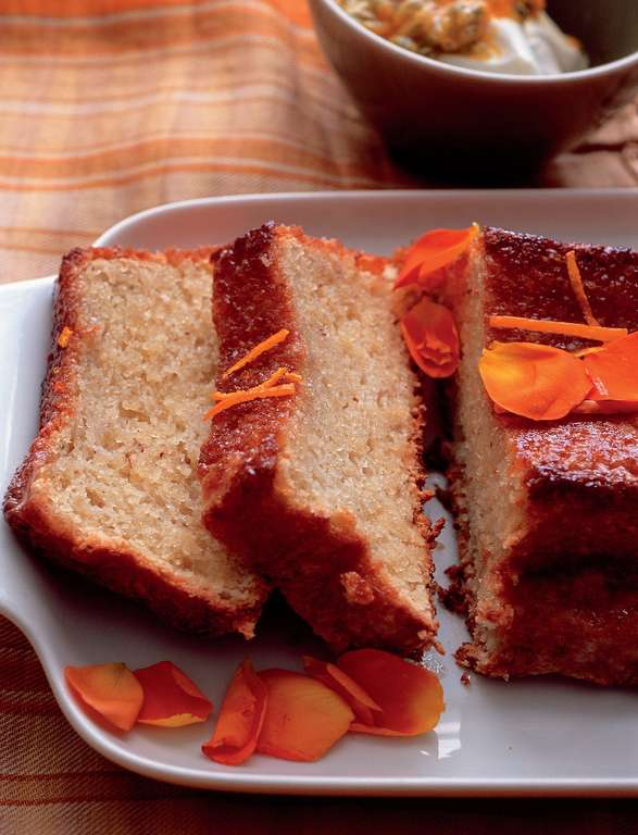 Orange and Hazelnut Cake with Orange Flower Syrup