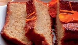 Orange and Hazelnut Cake with Orange Flower Syrup