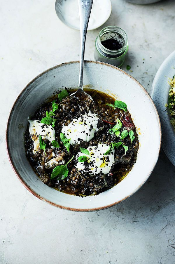 10 ultimate vegetarian Ottolenghi recipes puy lentil and aubergine stew ottolenghi